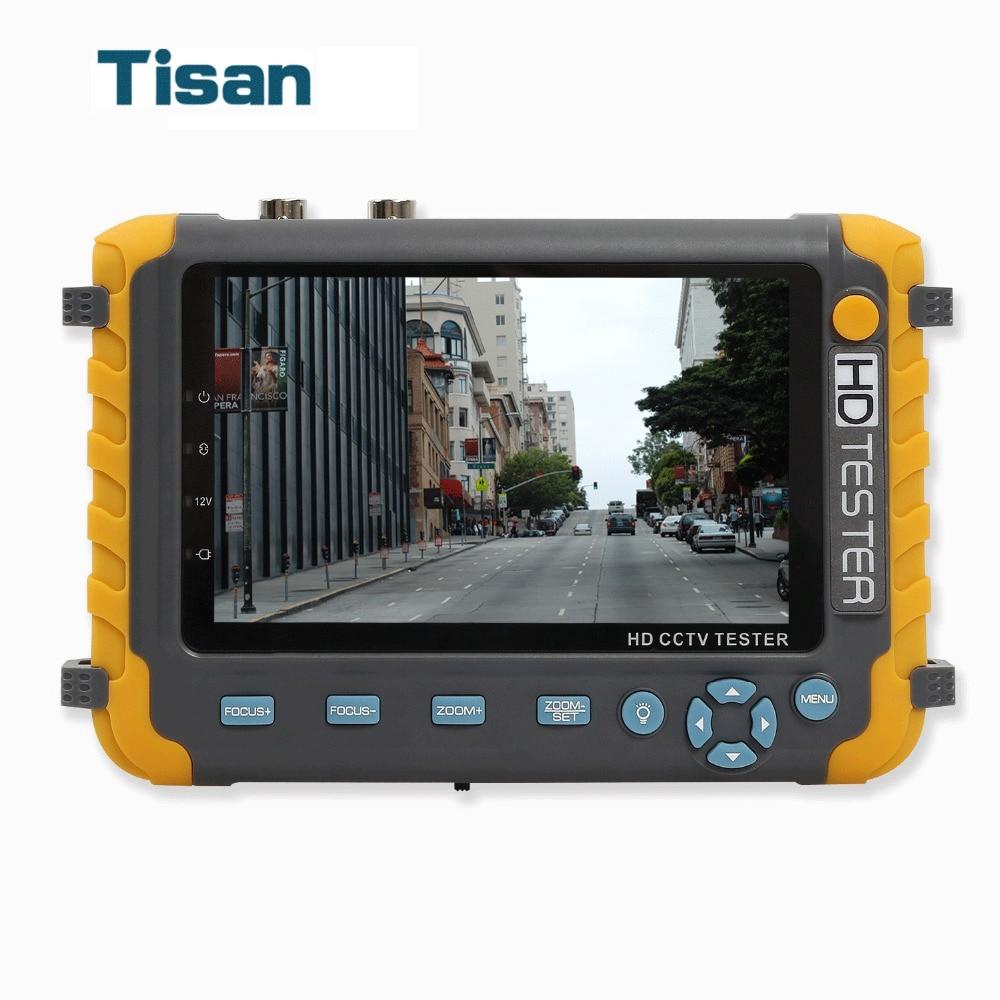 Newest 5 inch LCD 1080P AHD TVI CVI Analog CVBS Security Camera CCTV Tester Monitor Support HDMI VGA input