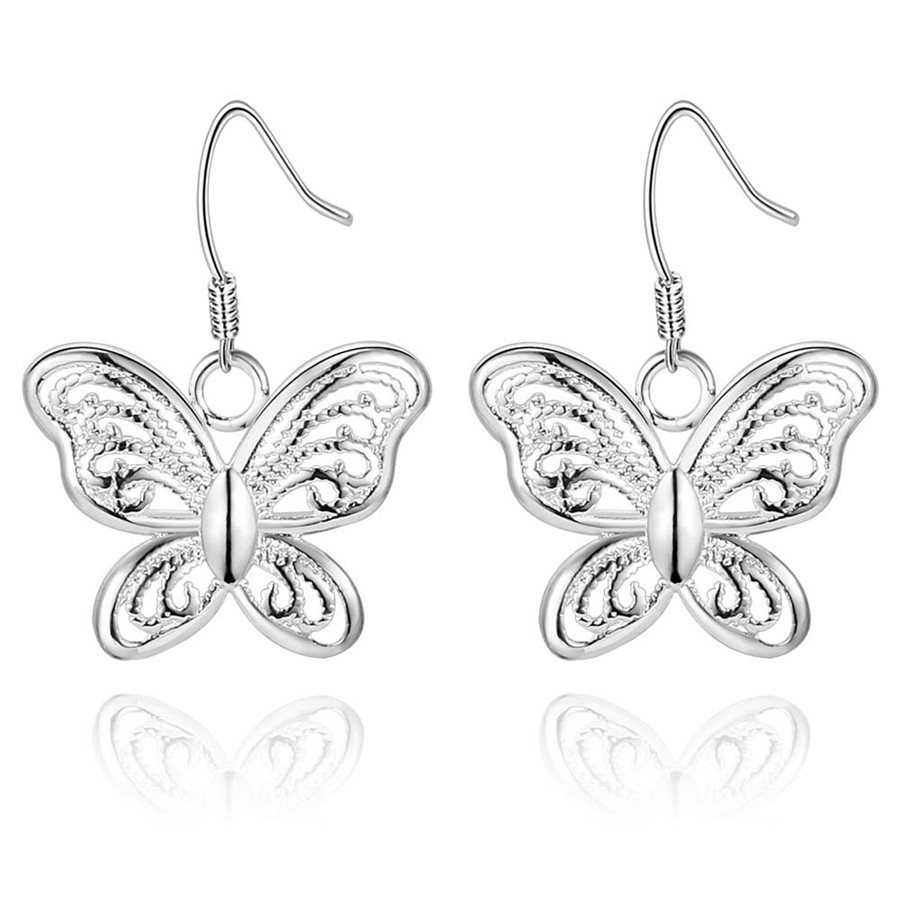 Today special new simple silver plated accessories cute trend women fashion classic hot selling earring free shipping