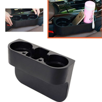 2PCS Black Seat Seam Wedge Car Drink Cup Holder Travel Drink Mount Stand Storage