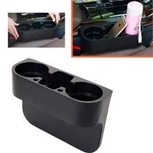 2PCS Black Seat Seam Wedge font b Car b font Drink Cup Holder Travel Drink Mount