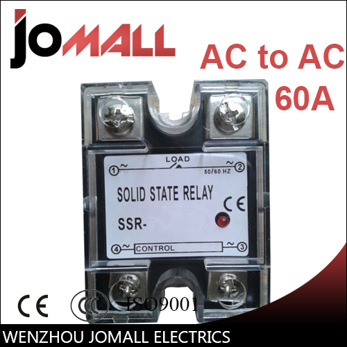 SSR -60AA AC control AC SSR Single phase Solid state relay original 3 phase ac solid state relay ssr 15a 80 250vac normally open electronic switch