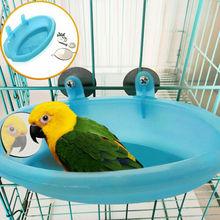 1 шт., милая пластиковая птичья клетка, монтируемая ванна, раковина с зеркалом для домашних животных, маленькая птичья душевая раковина, ванна с попугаем