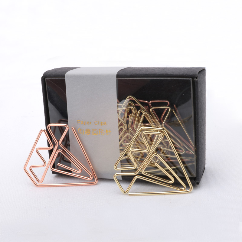 Bookmark Diamond Clip Rose Gold Clip Gold Staples Stationery Befriend Metal Paper Clip