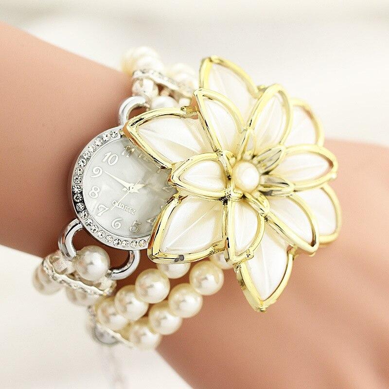 2017 Blom Kvinnor Mode Quartz Watch Dam Tjej Berömdt Varumärke Armband Armbandsur Kvinna Klocka Montre Femme Relogio Feminino