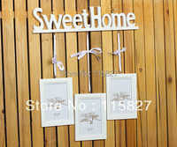 Min Order 20 Mixed Items Korean Style Wooden Photo Frame With Wooden Hanger 3pcs Set Frame