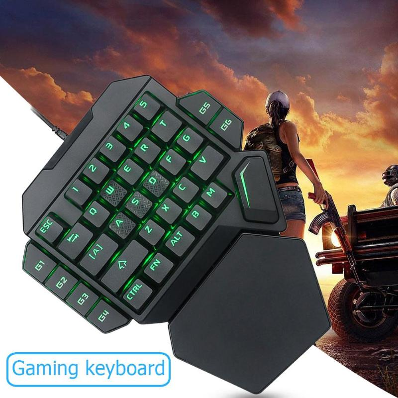 Gaming ABS Keyboard Wired USB One-Handed Keyboard Macro Definition Mechanical Seven Colors BacklightGaming ABS Keyboard Wired USB One-Handed Keyboard Macro Definition Mechanical Seven Colors Backlight