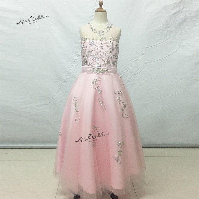 c39deca6e0b0 Pretty Pink Ragazze Pageant Abiti Bambini Prom Abiti Da Prima Comunione per  le Ragazze di Fiore