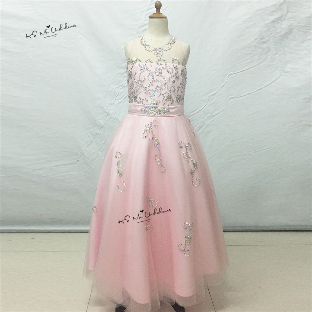 Pretty Pink   Girls   Pageant   Dresses   Kids Prom First Communion   Dresses   for   Girls     Flower     Girl     Dresses   for Weddings Vestido Madrinha