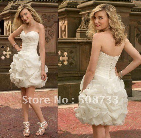 Free shipping Cocktail Short Summer Birdal Bride Wedding Dress Gowns