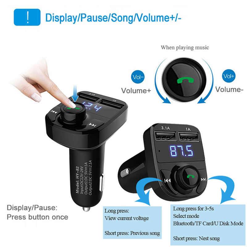 ANLUD Xe MP3 Audio Player Bluetooth Car Kit FM Transmitter Gọi Điện Thoại Rảnh Tay 5 V 4.1A Kép USB Car Charger Điện Thoại sạc