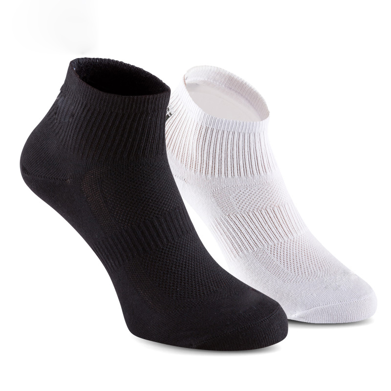 3 Pairs / Lot Cotton Sports Socks Slippers Men Absorb Sweat Deodorant Athletic Sox Basketball Cycling Running Socks White Black