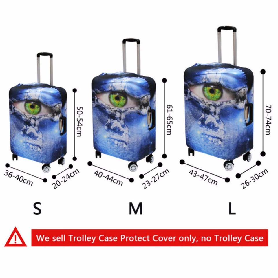 Cooper girl Ocean Shark Mouth Travel Luggage Cover Suitcase Protector Fits 23-26 Inch