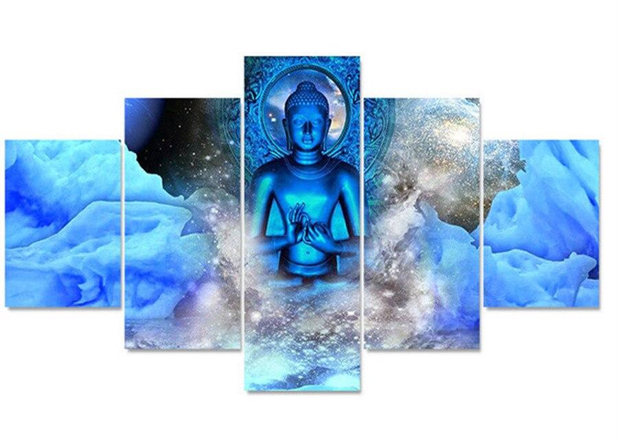 En gros 5 pièces nouveau 5d diamant kits de broderie point de croix religion bouddha décor à la maison diamant peinture mosaïque bricolage photos