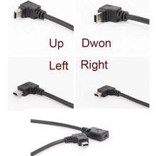 90 תואר 4 זווית מיני USB נקבה למיני B 5 פין זכר כבל מתאם