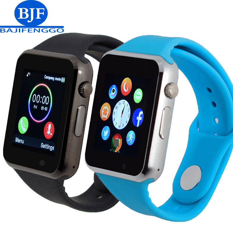T2 Bluetooth Smart Watch Support SIM SD Card Electronics Wrist Phone Watch For Android smartphone Blue
