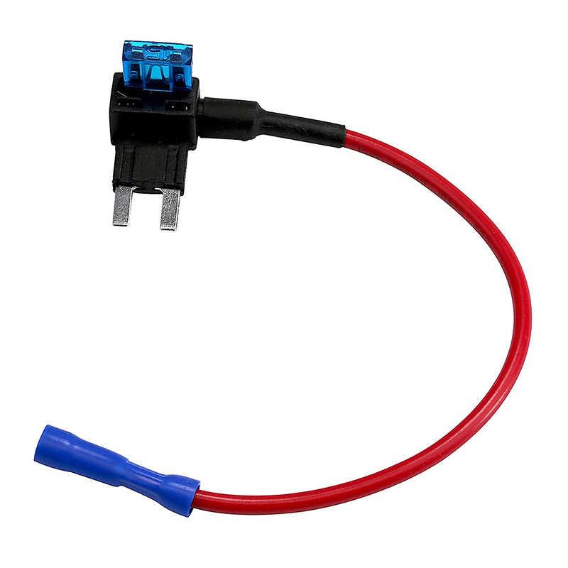 12V ミニ小中サイズ車のヒューズホルダー追加-a-回路タップアダプタ 10A マイクロミニ標準 Atm ブレードヒューズ
