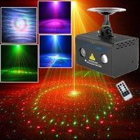 Podwójne kolory Soundlights dla domu party Disco projektor laserowy Club Bar taniec Lumiere sterowanie muzyką stroboskop w Oświetlenie sceniczne od Lampy i oświetlenie na