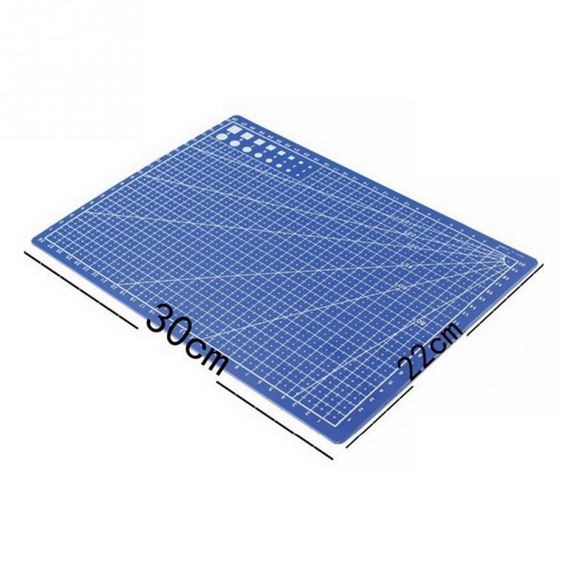 Peerless 1pc 30*22cm A4 Grid Lines Self Healing Cutting Mat Craft Card Fabric Leather Paper Board Sturdy Construction Office & School Supplies Cutting Mats
