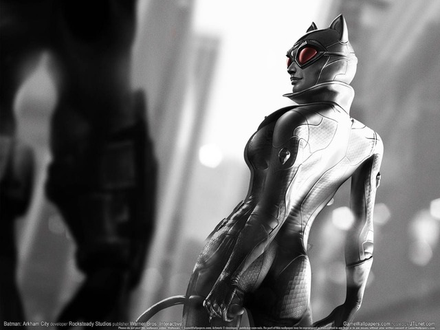 Free Shipping Custom Canvas Poster Well Design Catwoman Gaming Wall Sticker Nice Home Decor Batman Arkham