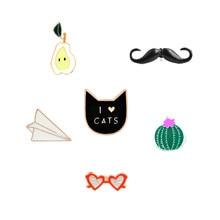 pear Heart shaped sunglasses ice cream i love cat pin cactus