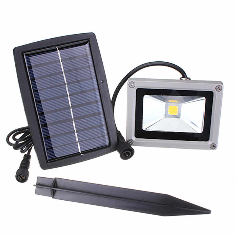 10W Floodlight LED Solar Light Waterproof LED Outdoor Garden Light Decoration Landscape Spotlight Wall Lamp Bulb Pure/Warm White