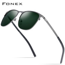 FONEX Driving Sports Outdoor Screwless Alloy Sunglasses Men Brand Designer 2019 New Polarized Sun Glasses for Women Shades Gafas(China)