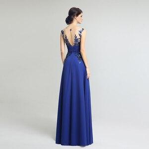 Image 2 - אורך קיר אלגנטי פורמליות ערב שמלות שיפון ארוך מפלגת שמלות עם אפליקציות נצנצים מכירה לוהטת SD159