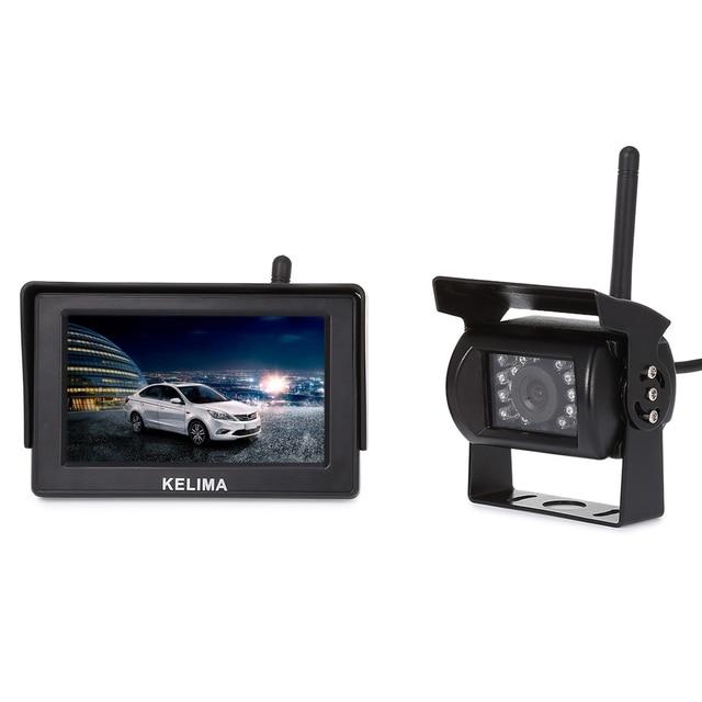 Беспроводной Заднего вида Автомобиля Мониторы для Парковки Обратный Резервную Камеру, 4.3 Дюймов TFT Экран, 18 ИК LED Ночного Видения Камеры