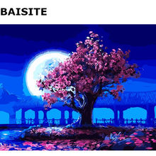 BAISITE Frameless Picture Home Decor DIY Oil Painting By Numbers Handpainted Canvas Painting Wall Art E580(China)