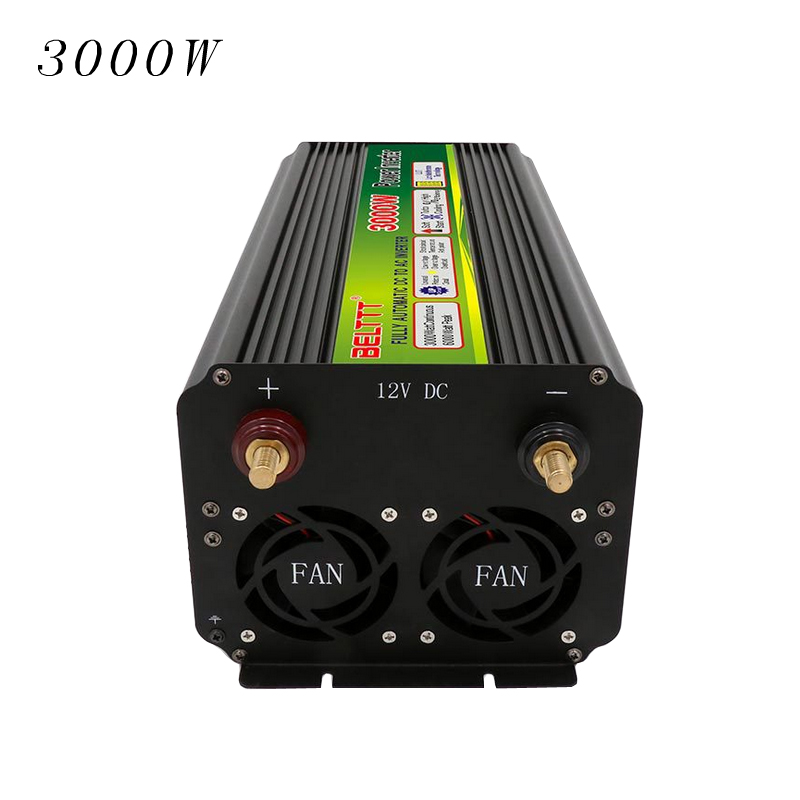 I Key Buy 1PC High Quality High power Cars Power inverter 3000W Household Power Car Travel 12V to 220V Or 24V to 220V Aluminum in Car Inverters from Automobiles Motorcycles