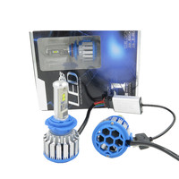 Bright White T1 Led H7 30W 3000lm 6000k Waterproof Headlight Fog Lamp With Fan DRL Replace