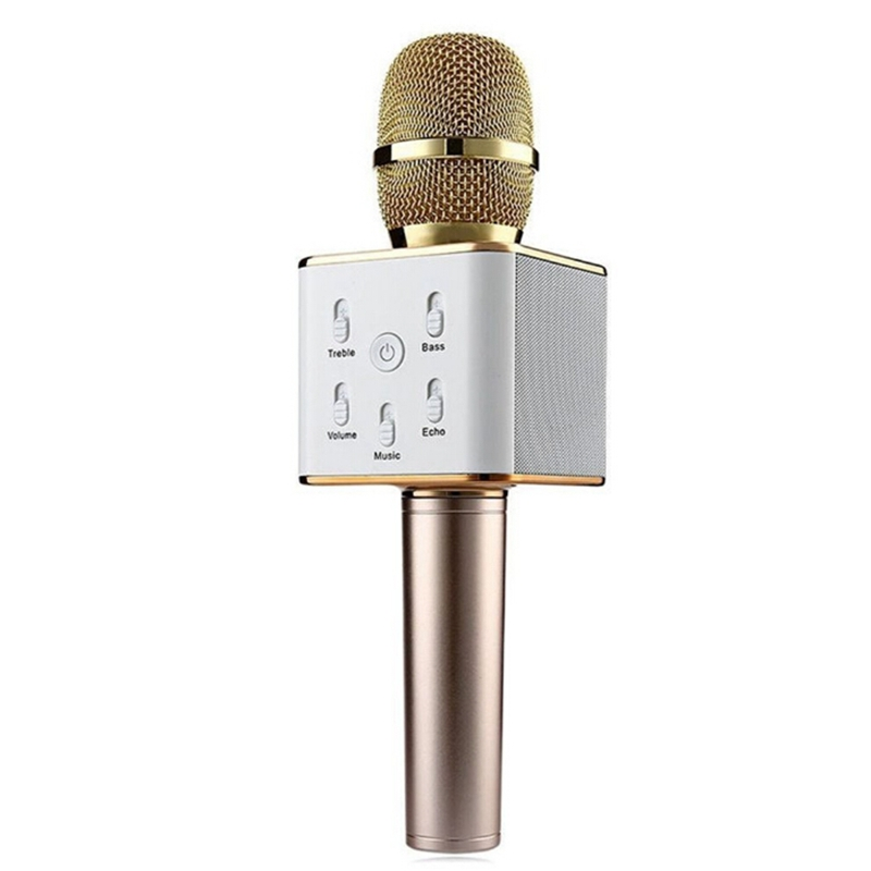 q7 mini karaoke player wireless condenser microphone with mic speaker ktv singing record usb. Black Bedroom Furniture Sets. Home Design Ideas