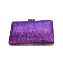 Popular promotion rhinestone box clutch evening bags handy purse from China