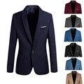 Стильная Мужская Повседневная Slim Fit Формальный Одна Кнопка Костюм Blazer Пальто Куртка Топы