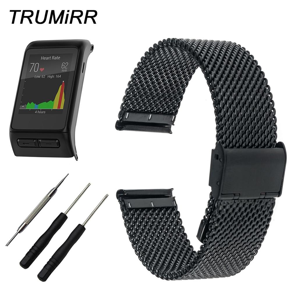 24mm Milanese Watchband for Gamin Vivoactive HR Smart Watch Band Wrist Strap Stainless Steel Bracelet Black Rose Gold Silver стоимость