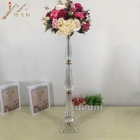 New design Vases 78 CM/ 30.7 Tall Acrylic Table Vase Wedding Centerpiece Event Road Lead Flower Rack For Home Decoration
