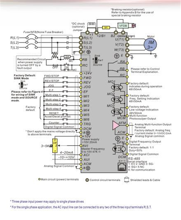 VFD110B23A 11kw Delta vfd inverter 3 phase 220v 15hp frequency converter ac motor drive inverter 0 okin motor wiring diagram diagram wiring diagrams for diy car 220V Outlet Wiring Diagram at fashall.co