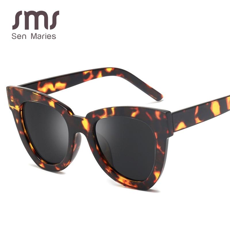 New Fashion Oversized Cat Eye Sunglasses Men Women 2019 Brand Big Retro Sun Glasses Anti-UV400 Sunshade Glasses Gafas De Sol