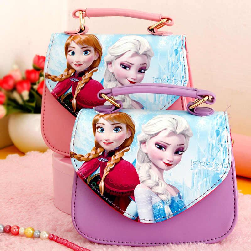 Disney Kartun Beku Anak Messenger Bag Princess Elsa Pakaian Boneka Aksesoris Gadis Ulang Tahun Hadiah Tas Bahu Tas Paket