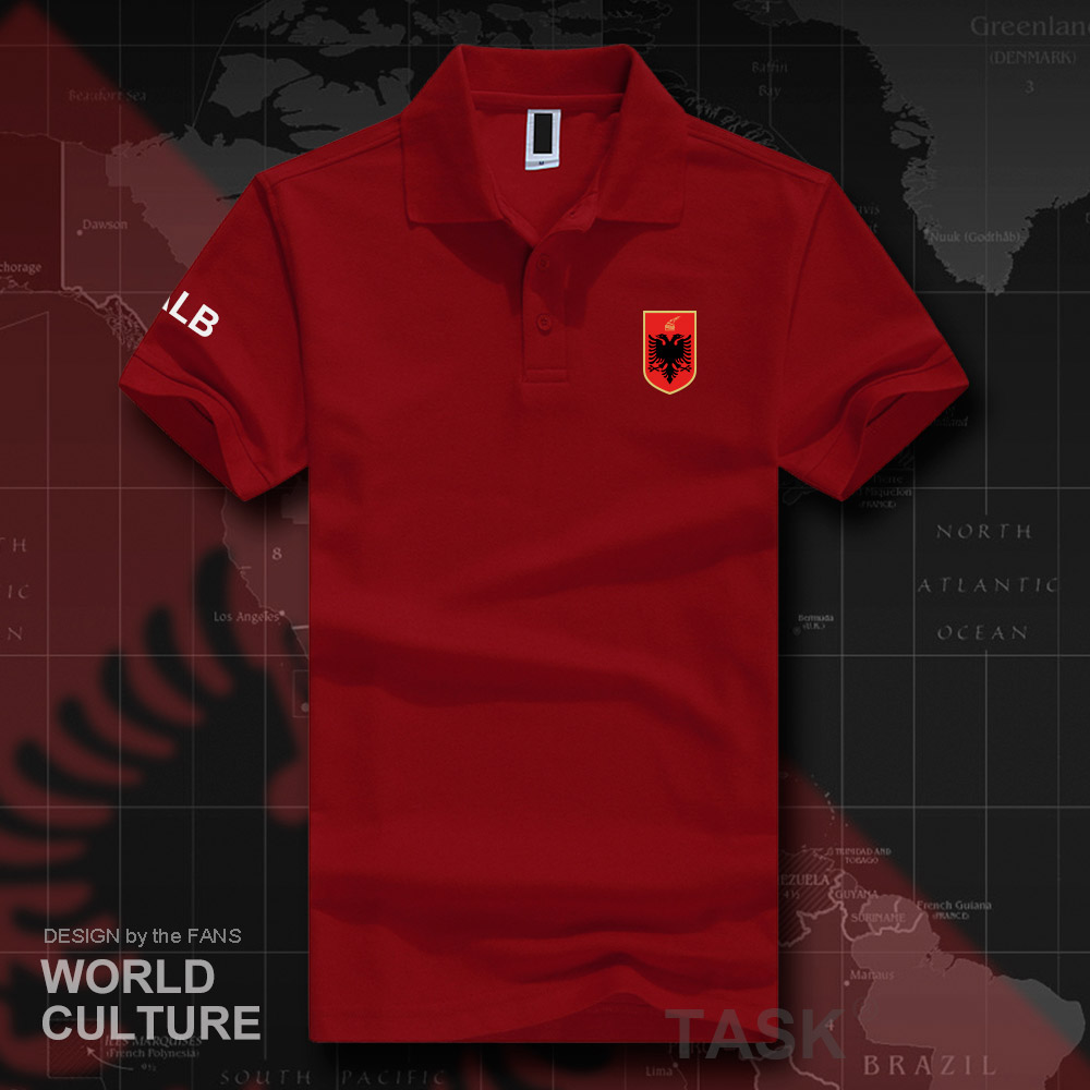 Republic of Albania ALB Albanian   polo   shirts men short sleeve brands printed for country 2018 cotton nation team flag casual 20