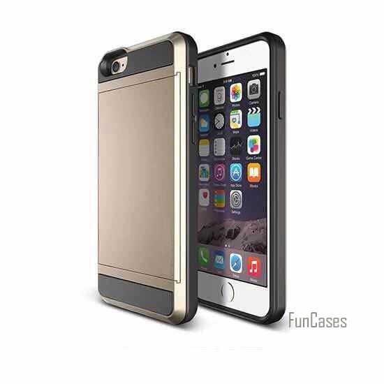 لابل آيفون 5s 5 SE حافظة هجين درع هارد بي سي + تي بي يو 2 في 1 بطاقة المنزلق مع بطاقة تخزين غطاء خزائن هاتف آيفون 5 5s SE