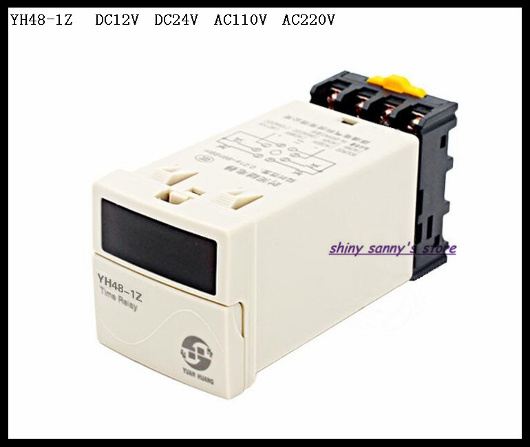 Upgrades YH48-1Z DH48S-1Z DC12V, DC24V, AC110V, AC220V Multifunction Digital Delay Timer 0.01S-99H99M On Delay 8 Pins Brand New dc 12v led display digital delay timer control switch module plc automation new
