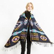 Mingjiebihuo европейский и американский народный стиль накидка кондиционер шаль шарф для поездок женские Девушки Осень и зима мода