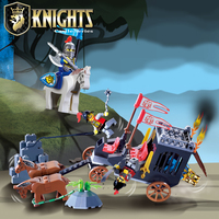 Enlighten Castle Educational Building Blocks Toys For Children Kids Gifts Minifigures Horse Knight King Compatible With