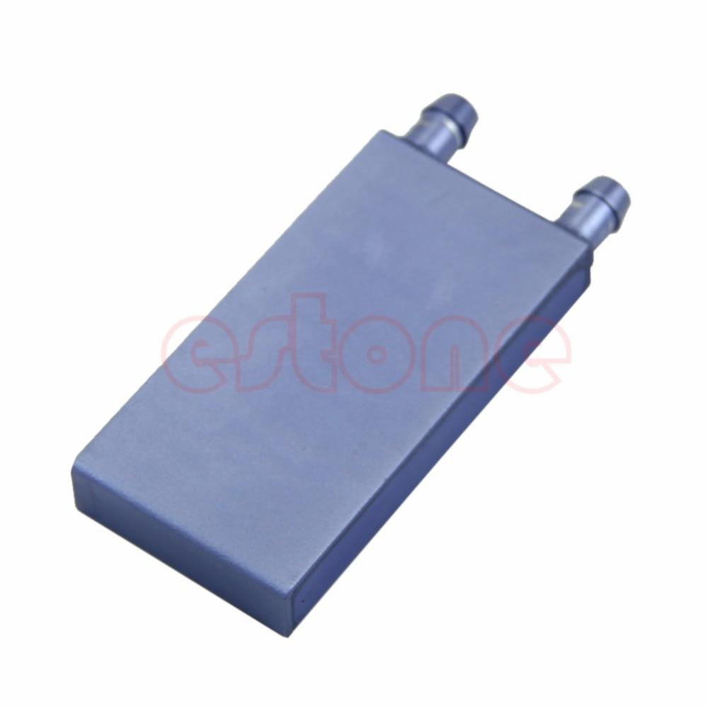Aluminum Water Cooling Block for CPU Graphics Radiator Heatsink 82mmx40mmx12mm - L059 New hot 5pcs lot black aluminum fin 28x28x11mm electronic cooling radiator heatsink for cpu gpu graphics video card 1w led dissipator
