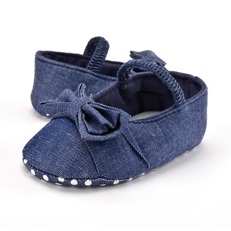 Cute Soft Sole Hot Blue Color Mary Jane Baby Shoes Fashion Girls Toddler First Walkers