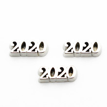 Newest 10pcs/lot Alloy silver 2020 floating charms living gl