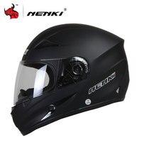 NENKI Motorcycle Helmet Black Moto Full Face Retro Scooter Helmets Motorbike Riding Helmet Men Motocross Helmet Casco Moto