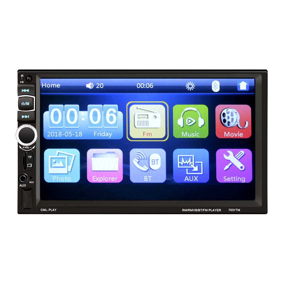 HEVXM 7031TM 2 Din Touch Screen Car MP5 Player Universal Auto Radio Stereo Car Audio Video Multimedia Player Mirror link in Car Radios from Automobiles Motorcycles