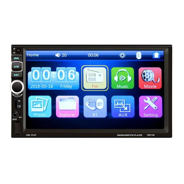 HEVXM 7031TM 2 דין מגע מסך רכב MP5 נגן אוניברסלי רדיו סטריאו לרכב אודיו וידאו מולטימדיה נגן מראה קישור